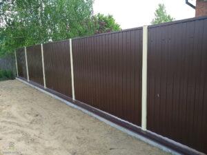 Забор из профнастила цена Киев